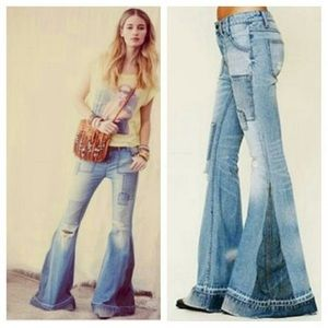 Free People Festy Super Flare Jeans